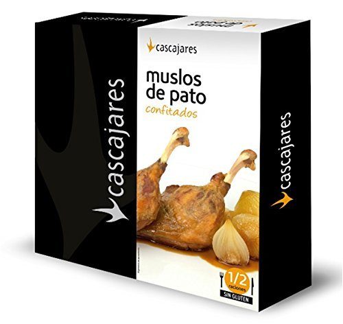 CASCAJARES - Muslos de Pato confitados. Listos para terminar en horno o microondas y acompañar con una guarnición. No contiene gluten.