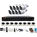 Revo America AeroHD 16Ch. 4MP DVR, 2TB HDD Video Security System, 8 x 1080p IR Bullet Cameras Indoor/Outdoor - Remote Access via Smart Phone, Tablet, PC & MAC