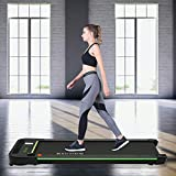 Kicode Under Desk Electric Treadmill, Portable Treadmill, Walking Pad Slim Treadmill with Bluetooth Speaker, Remote Control and LED Display, Walking Jogging Machine for Home Office Use
