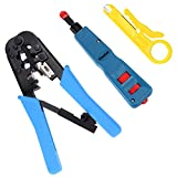 Vastar Network Cable Repair Kit - Network Wire Punch Down Impact Tool, Dual-Modular Crimping Toolz