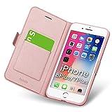 iphone8plus ケース iphone7plus ケース 手帳型 薄型 スマホカバー PUレザー 全面保護 耐衝撃 ……