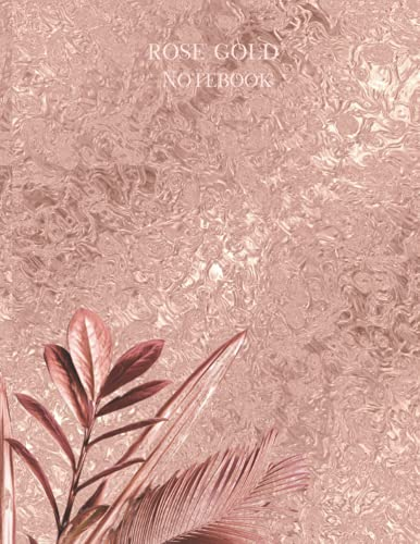 Rose gold Notebook: rose gold - composition notebook college ruled (notebook journal)