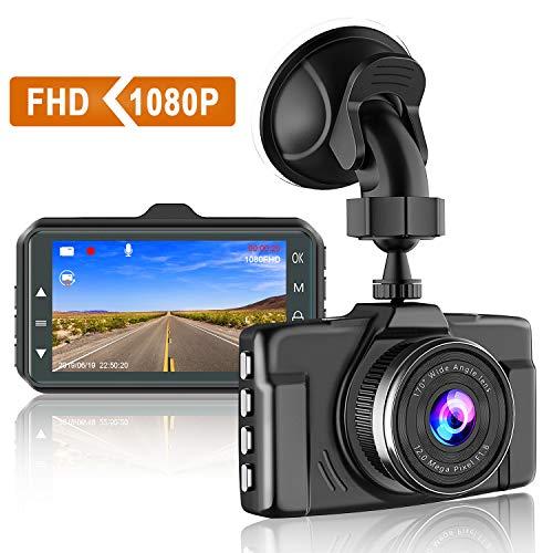 【2021 Nuova Versione】CHORTAU Telecamera per Auto 1080P Dashcam Auto Schermo da 3 Pollici Angolo di Ripresa da 170°, con Registrazione in Continuo, Monitor di Parcheggio