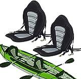 Seamander Kayak seat Canoe Seat Back Support(Black/Grey(No Storage Bag 1-Pack)