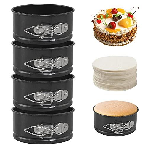 Bellestyle Mini Moldes para Tartas y Bizcochos, 4 Piezas Mol