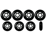 Player's Choice Inline Skate Wheels Hilo Set 72mm 76mm 80mm 82A Black Outdoor Hockey