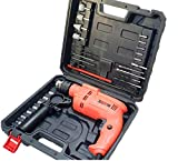 Cheston CHD-TZ004 650W Electric Drill Machine & Screwdriver Kit 13mm Chuck Hammering, Forward, Reverse & Speed Control with Multiple Tools (0-2800 RPM)
