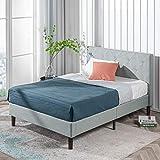 ZINUS Shalini Upholstered Platform Bed Frame / Mattress Foundation / Wood Slat Support / No Box Spring Needed / Easy Assembly, Sage Grey, King