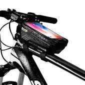 Borsa Telaio Bici Porta Cellulare, Impermeabile Manubrio per Borse Biciclette Touch Screen, Supporto Bici MTB, Accessori Bicicletta Bici da Corsa Ciclismo, Mountain Bike Portacellulare per 6.5 Pollici