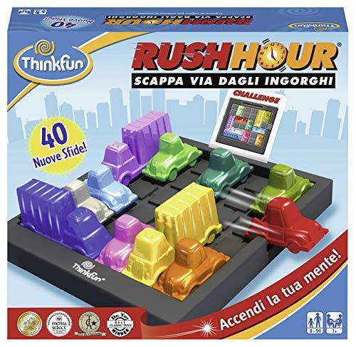 ThinkFun 76300 Rush Hour, Gioco di Logica, per 1+ Giocatori, Età 8+ (Versione Italiana)