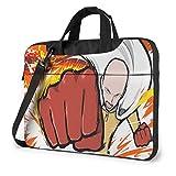 Funda para portátil de 14 Pulgadas, maletín para Tableta One Punch Man, Funda de Lona para portátil a Prueba de Golpes con Hombro Protector ultraportátil