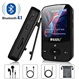 Clip Mp3 Player with Bluetooth 4.1, 8GB Lossless Sound Music Player with FM Radio Voice Recorder Video Earphones for Running, Support up to 128GB(Black)