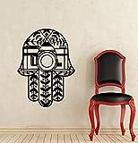 Diseño de arte Etiqueta de la pared Patrón de flores Árabe Suerte Fátima Hamsa Mano Ojo Buda Calcomanía de vinilo Estudio de yoga Sala de estar dormitorio decoración del hogar cartel mural