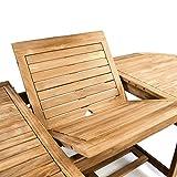 Divero Gartenmöbel-Set Terrassenmöbel-Garnitur Sitzgruppe großer Esstisch 170/230 cm ausziehbar - 5