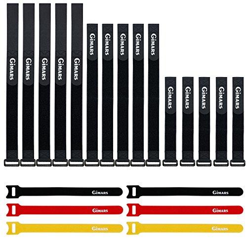 GIMARS Set di 21 Lacci Fascette Stringicavi Fermacavi Cinturini in Velcro da Organizzatore Laccio...