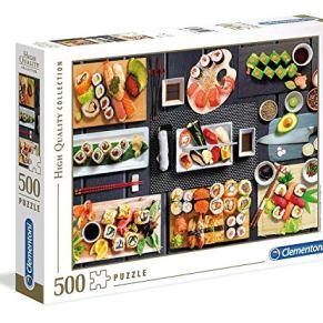 Clementoni- Puzzle 500 Piezas Sushi, Multicolor (35064.3)