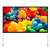 TaoTronics 100 inch Projector Screen with Stand,TT-HP027 16:9 HD Projection Screen Outdoor...