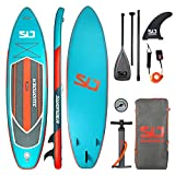 Swonder Premium Inflatable Stand Up Paddle Board, Ultra Durable & Steady, 11'6' Long 32' Wide 6' Thick, Full SUP Pack with Adjustable Paddle, Backpack, Leash, and Pump for Youth & Adult