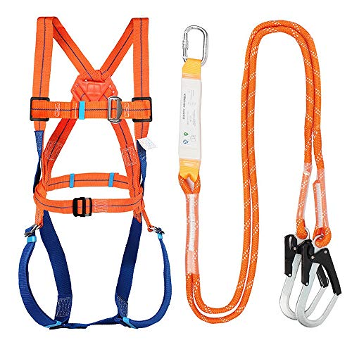 Full Body Safety Harness Tool Fall Protection with...