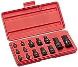 "Neiko 01141B Impact Grade Allen Bit Socket Set, Metric Hex Driver, 2.5mm to 19mm | 14-Piece Set, 1/4"", 3/8"" and 1/2' Drive, Cr-Mo, One-Piece Construction"