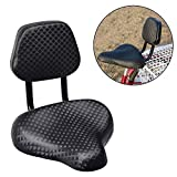 WZ YDTH Bicycle Seat,Bicycle Back Seat MTB PU Leather Soft Cushion Rear Rack Seat Cycling Wide Faux Leather Bike Bicycle Saddle Seat with Backrest Support