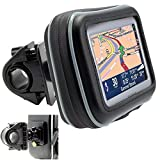 ChargerCity 5' Screen Water Resistant GPS Case w/Security Screw Heavy Duty Bike Motorcycle Handle Bar Mount for Garmin Drive Smart Assist Nuvi 58 57 56 55 52 51 50 2589 2597 LM LMT Tomtom GO Via GPS