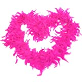 GiftExpress 6' Medium Weight Chandelle Feather Boa Hollywood Style Costume Accessory Vivid Solid Color (Hot Pink)