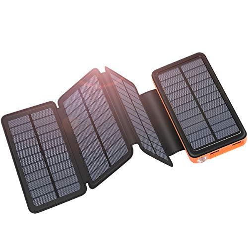 ADDTOP Caricabatterie Solare 25000mAh Portabile Power Bank con USB-C Porte Batteria Esterna con 4...