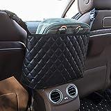 Phetium Car Net Pocket Handbag Holder,Car Seat Back Mesh Organizer,Purse Holder for Car,Black...
