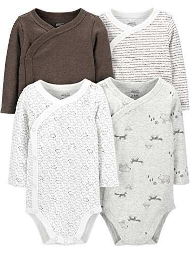 Simple Joys by Carter's Baby 4-Pack Long Sleeve Side Snap...