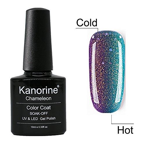Kanorine Temperature Color Changing Gel Nail Polish 10mL UV LED Soak Off Gel kit