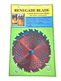 Renegade Blade 2pk-8'-20t/56t Combo Pack - (1) 20 Teeth Blue Hawk (1) 56 Teeth red Razor - Hybrid Pack GS1 Barcoded Shelf Hanging Blister Pack- Carbide Brush Cutter Blades, 203mm Dia.