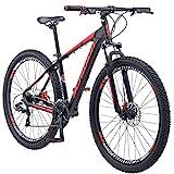 Schwinn Bonafide Mens Mountain Bike, Front Suspension, 24-Speed, 29-Inch Wheels, 17-Inch Aluminum Frame, Matte Black/Red
