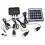 Docooler 4W Panneau Solaire Propulsé 3 Lampe LED USB...