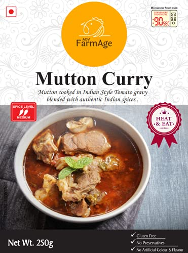 AOV FarmAge Mutton Curry - Ready to Eat | Instant Food | FarmAge, 250g