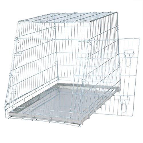 EUGAD 0010TSL Cage de Transport Pliable,Cage à Chiot Cage métal avec 1 Porte