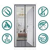 Auxmir Rideau Moustiquaire Magnétique, 90x210cm Moustiquaire Aimantée de Porte Rideau Anti-moustique Idéal Pour...
