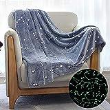 Kanguru Glow in The Dark Constellation Blanket, Gifts for Teens Kids Women Girls Best Friend