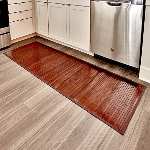 iDesign Tappeto bagno, Tappeto antiscivolo bagno anche per cucina o ingresso impermeabile extra lungo, Tappetino bagno o...