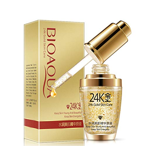 BIOAQUA 24K Gold Essence Collagen Skin Face Moisturizing...