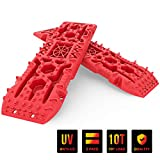 PLIOSAUR Recovery Traction Tracks Boards with Jack Lift Basefor Off-Road Truck, Cars, Sand, Snow, Mud,4X4 Recovery Traction Mats for Tire Traction Track Tool & Vehicle