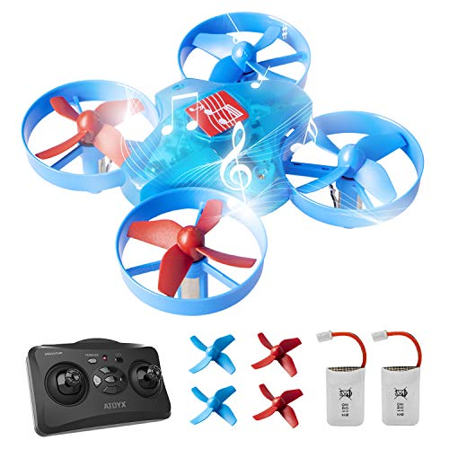 Musicale Drone per Bambini e Principianti Mini Drone Bambini RC Giocattolo AT-66M Cantante Drone...