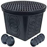 StormDrain FSD-3017-20BKIT-6 20-in. Large Round Catch Basin with Black Grate Kit