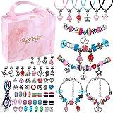 Charm Bracelet Kit, Flasoo 75 Pcs Jewelry Kit with Charm Beads for Bracelet Jewelry Making Crafts,...