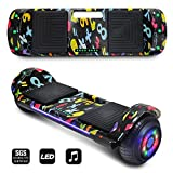 CHO POWER SPORTS 2020 Electric Hoverboard UL Certified Hover Board Electric Scooter with Built in Speaker Smart Self Balancing Wheels (Image Black)