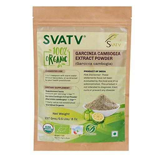 SVATV Organic Garcinia cambogia 1/2 LB, 08 oz, 227g USDA Certified Organic- Biodegradable Resealable Zip Lock Pouch