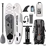 Murtisol Inflatable Paddle Board Stand Up Paddle Board ISUP Memphis Black