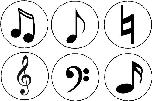Set Of 6 Musical Symbols 1 25 Magnets Music Musician Notes Natural Sign Treble Bass Clef Signs Amazon Co Uk Kitchen Home