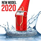 JPK SX Spin Scrubber | Powerful Electric Mop with LED Display | Cordless Power | Household Extension Handle Shower Cleaner | Scrubber | Brushes | Mops | Sponge | Storage Rack - Red
