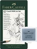 Faber-Castell 119065 - Lápices Castell 9000, 12 unidades + Art Eraser